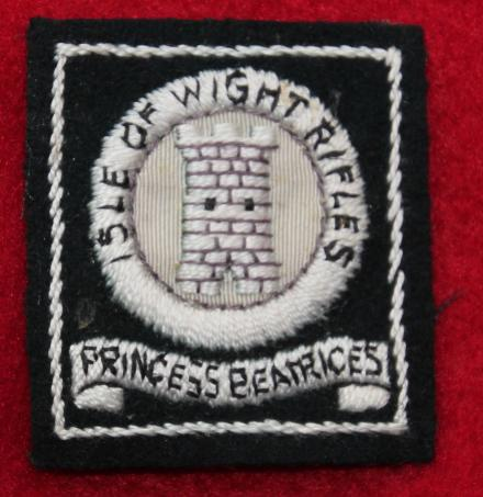 Isle of Wight Rifles Cloth Formation Sign